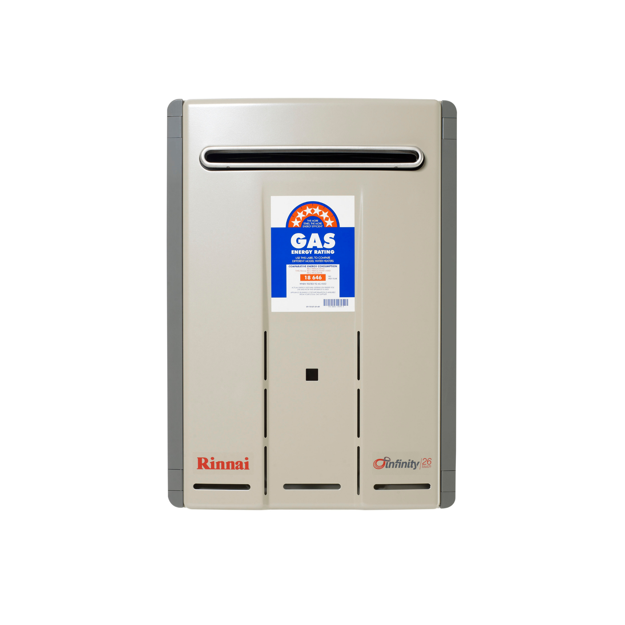 RINNAI 26 TOUCH GAS CONTINUOUS FLOW HOT WATER SYSTEM